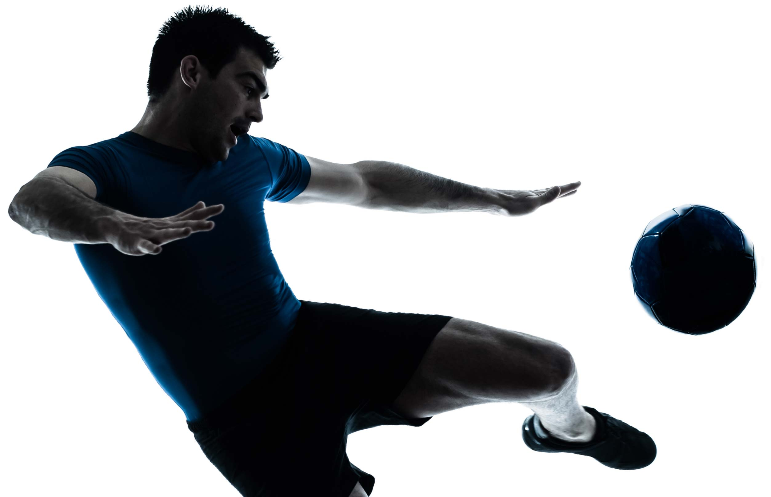 physiotherapy solutions - image of healthy man kicking ball